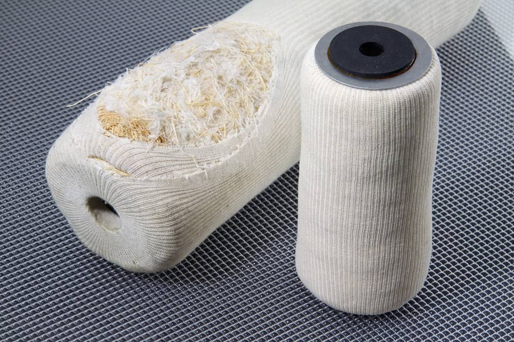 Oil filter made with recycled fibers