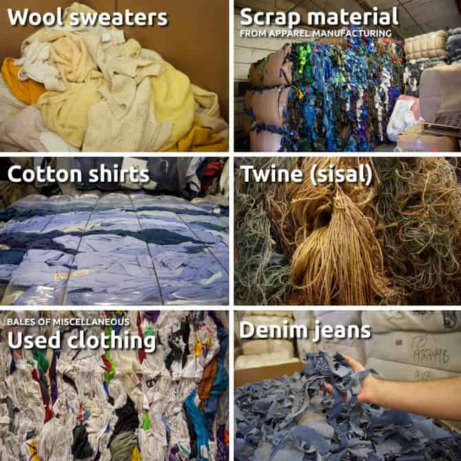Material Recycling, Fiber Materials, Recycling Material